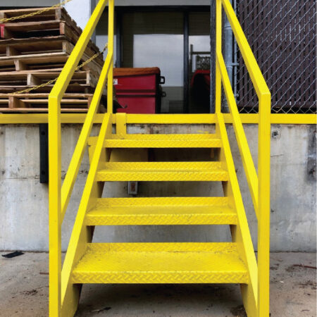 UNC Wayne Loading Dock Stairs